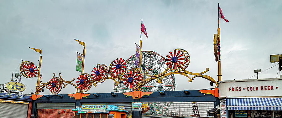 Coney Island Boardwalk by Kay Brewer