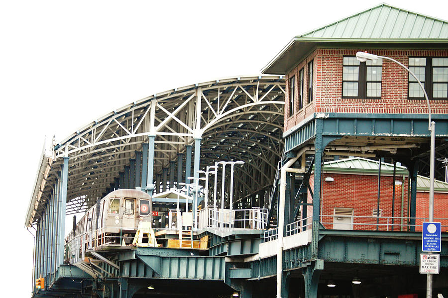 Coney Island Train Station by Ann Murphy