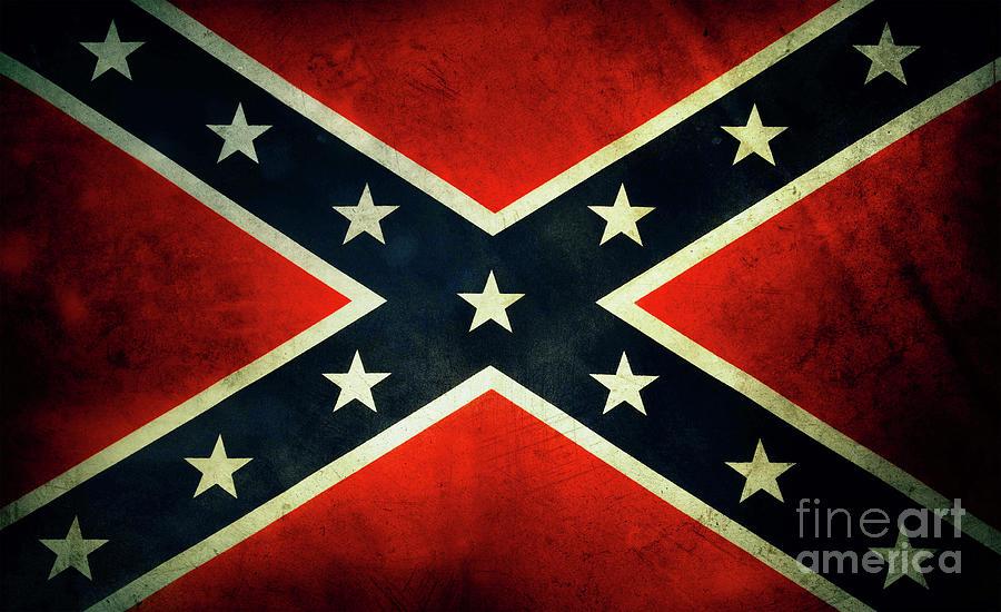 Confederate Rebel Battle Flag by Doc Braham