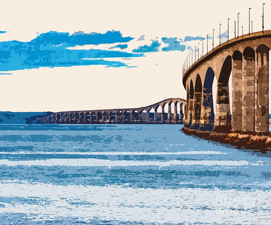 Confederation Bridge, PEI 4 by Art MacKay