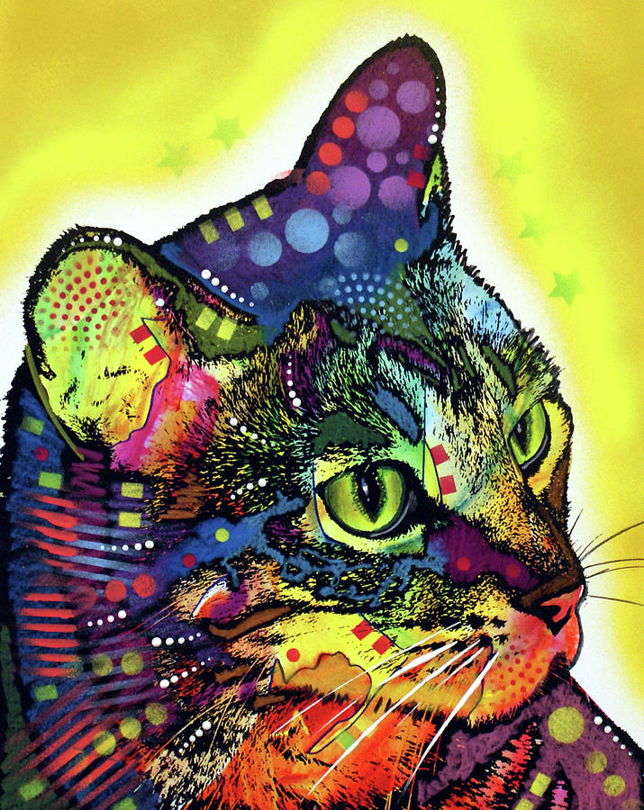 Animals Mixed Media - Confident Cat by Dean Russo