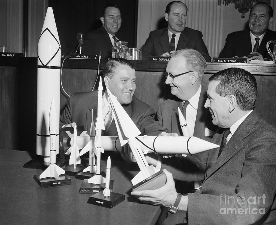Congressmen Examine Missile Models Photograph by Bettmann