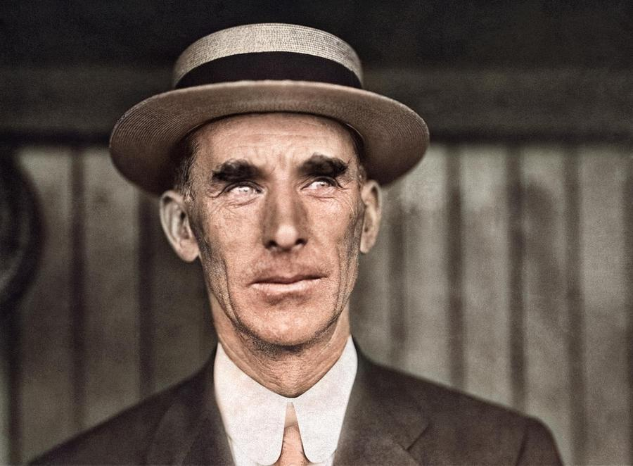 Connie Mack, As Manager Of The Philadelphia Athletics. 1911 Colorized By Ahmet Asar Painting