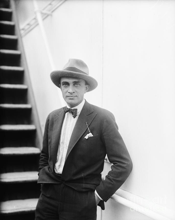 Conrad Veidt, German Film Star, On Boat Photograph by Bettmann