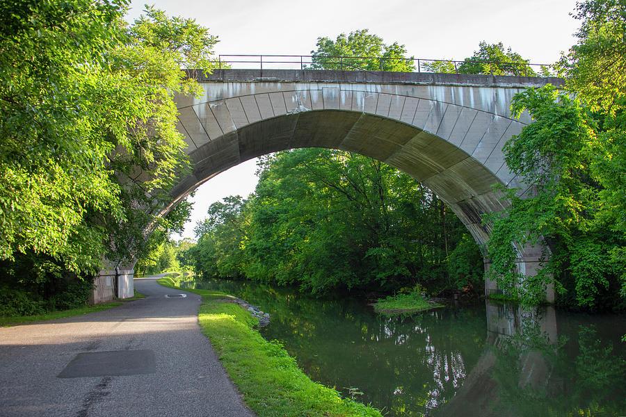 Conrail Photograph - Conrail - Phoenixville Bridge Over The Canal by Bill Cannon