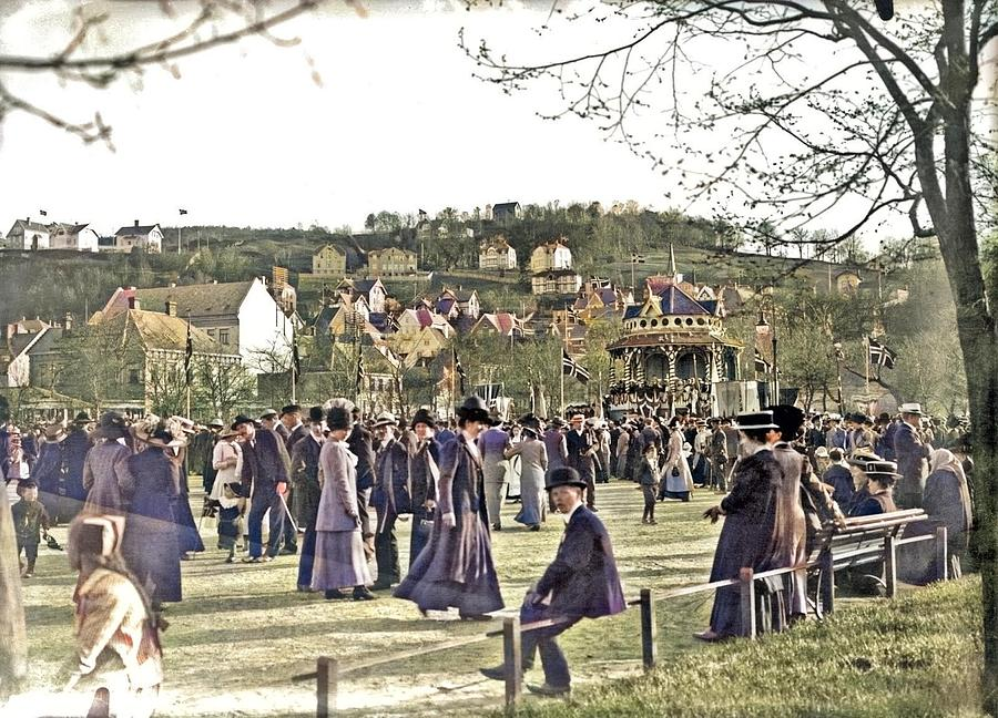 Constitution Day In Ila Park, 1915 Colorized By Ahmet Asar Painting
