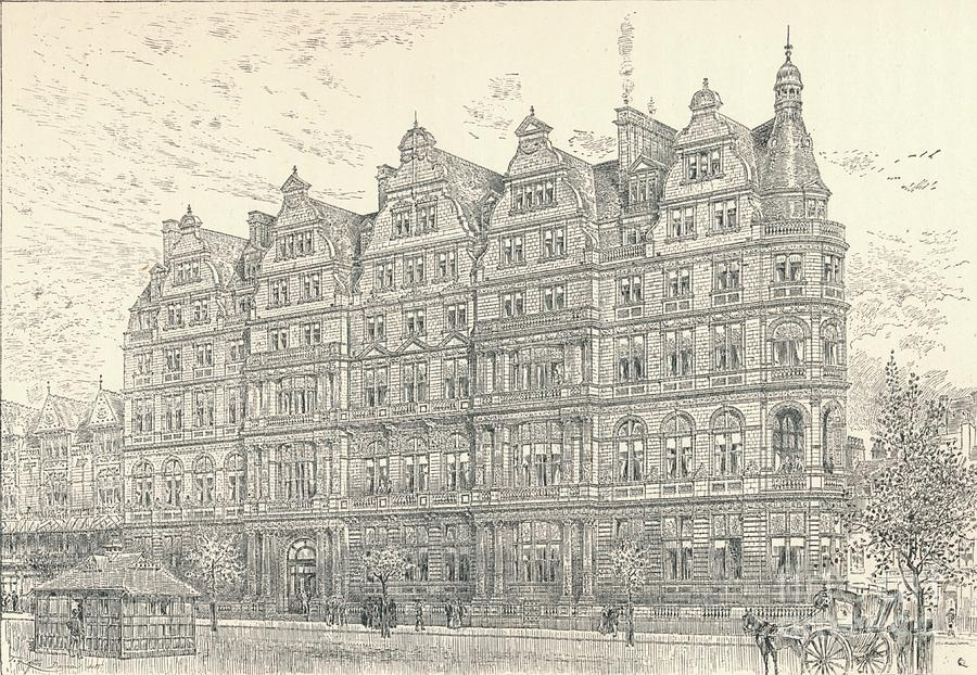 Constitutional Club, 1896 Drawing by Print Collector