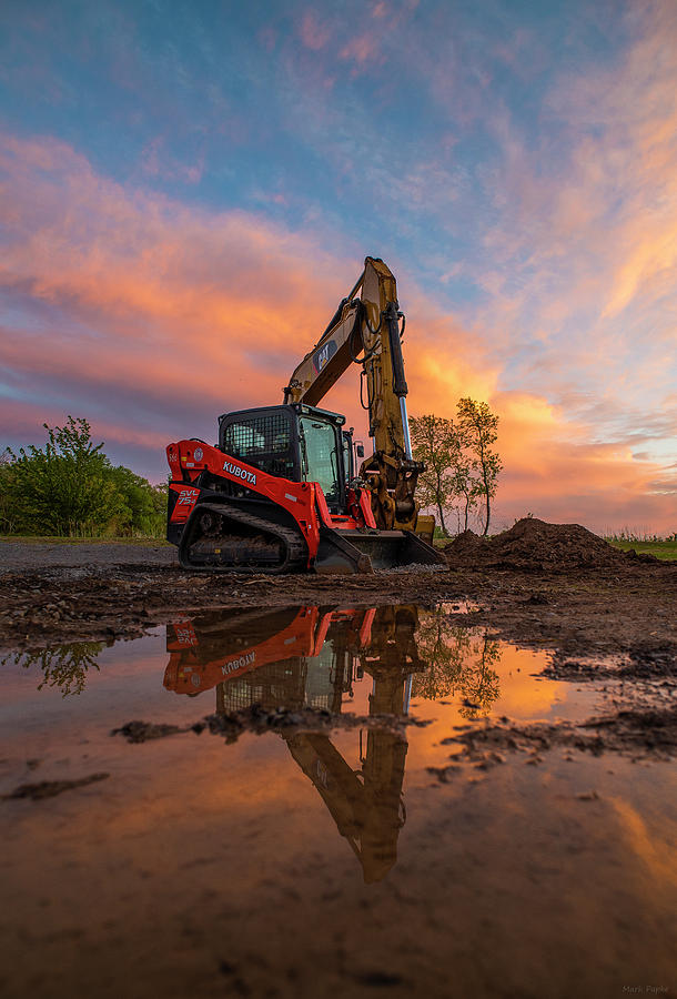 Construction Sunset by Mark Papke