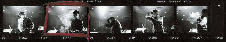 Contact Strip Of Entertainer Frank Photograph by John Dominis