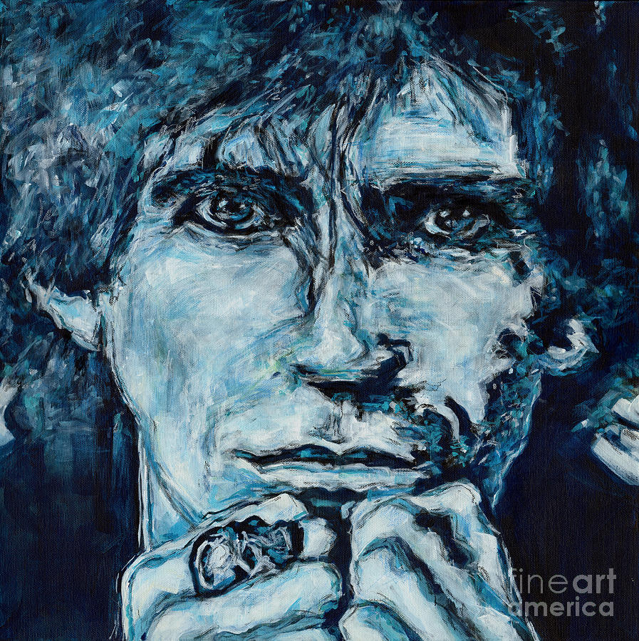 Contemplating the Blues. Keith Richards Rock Royalty by Tanya Filichkin