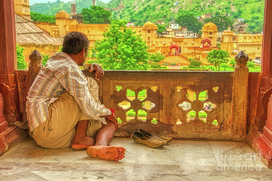 Contemplation of Amer Fort - India by Stefano Senise
