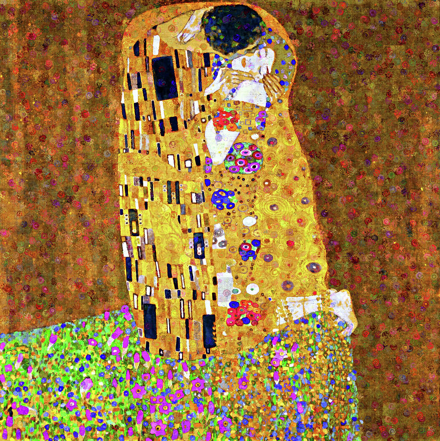 Contemporary Kiss Dedication To Klimt by Georgiana Romanovna
