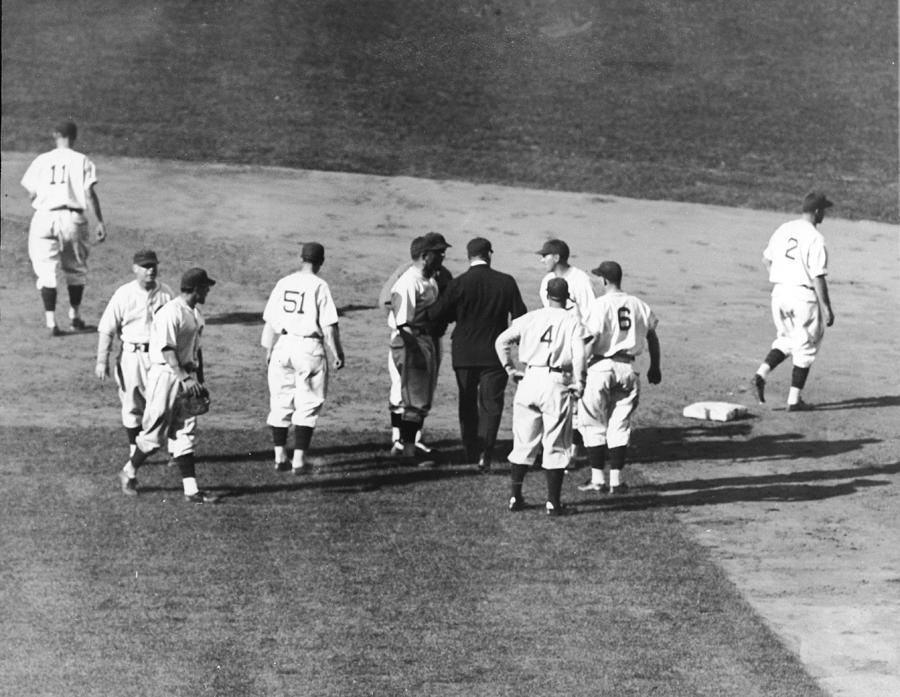 Controversial Call In The 1935 World Photograph by Fpg