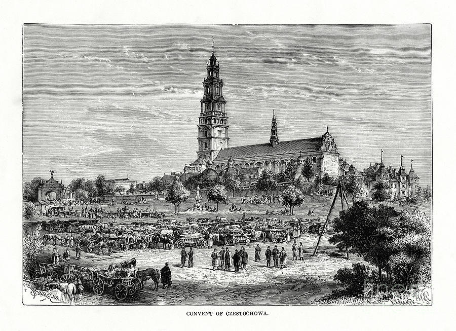 Convent Of Czestochowa, Poland, 1879 Drawing by Print Collector