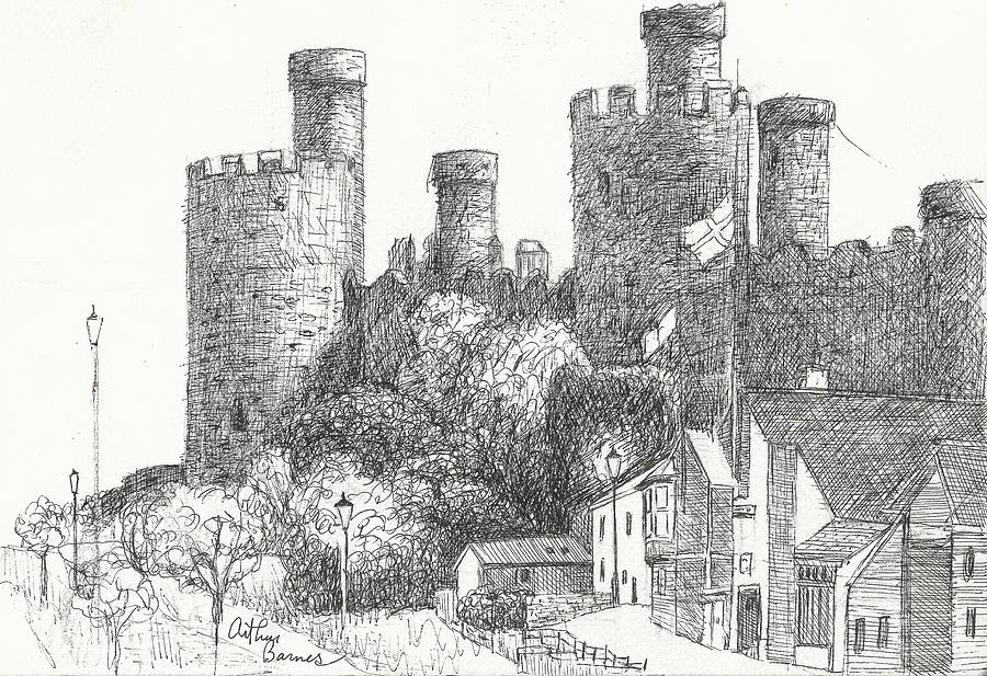 Conway Castle Drawing