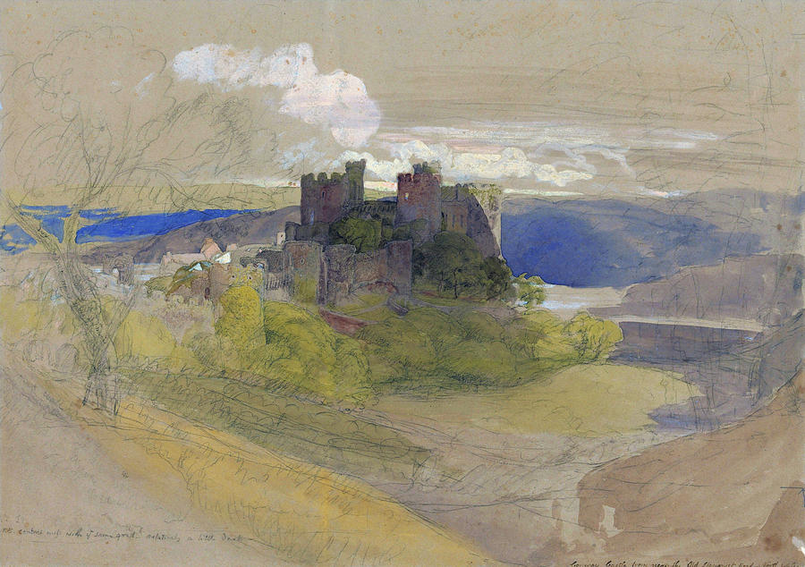 Samuel Palmer Painting - Conway Castle - Digital Remastered Edition by Samuel Palmer