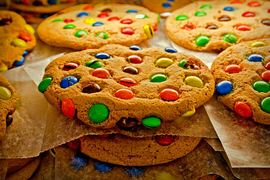 Cookies With M&ms Photograph by Kantor
