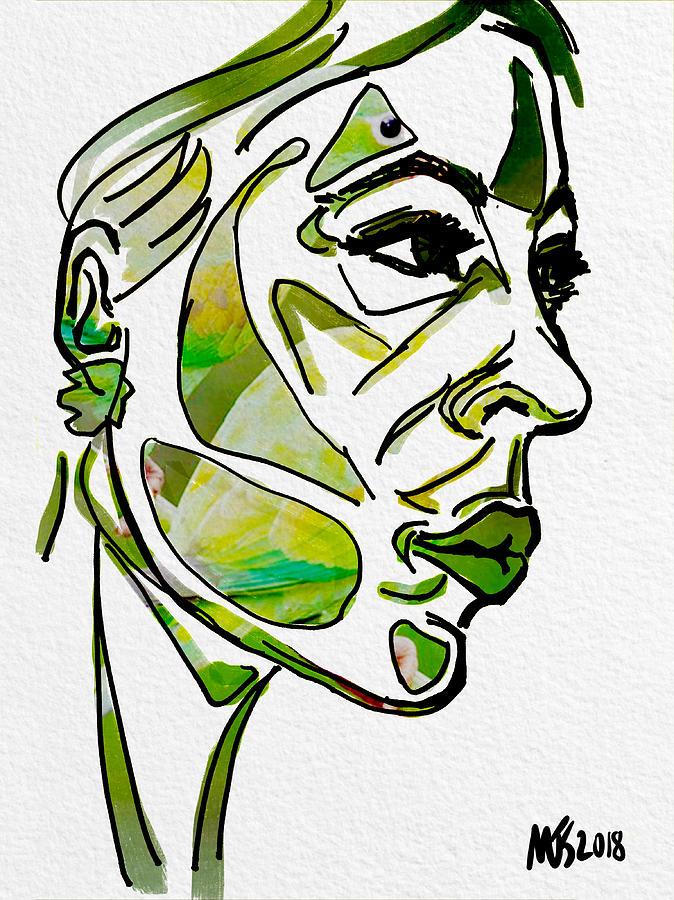 Portrait Digital Art - Cool Green by Michael Kallstrom