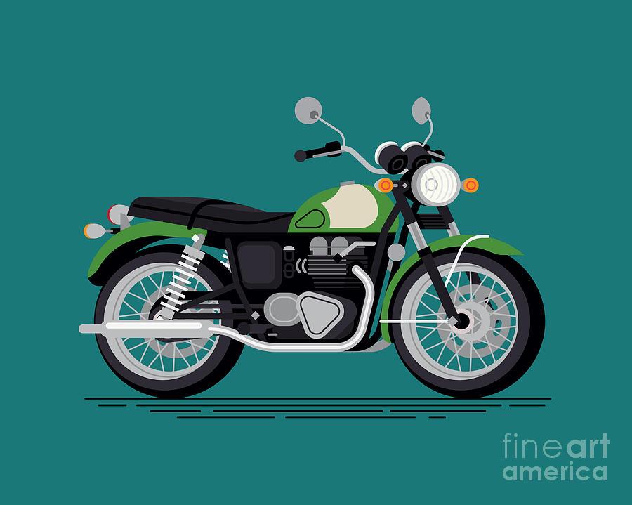 Motor Digital Art - Cool Vector Classic Design Street by Mascha Tace