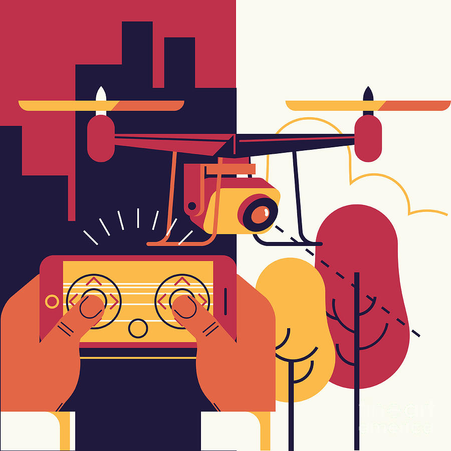 Rotor Digital Art - Cool Vector Trendy Flat Design by Mascha Tace