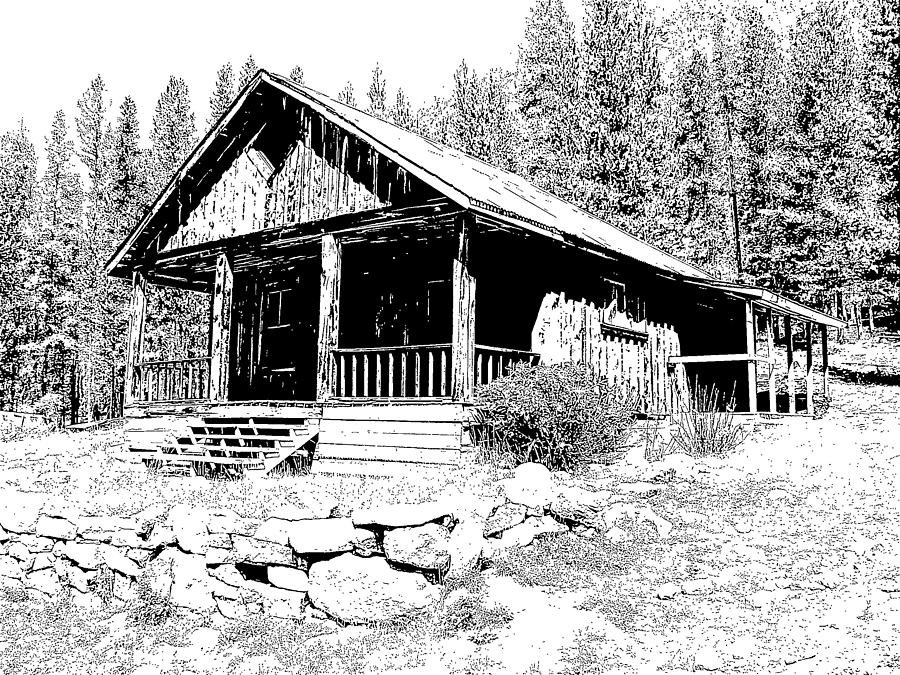 Montana Drawing - Coolidge Ghost Town Montana by Kevin Heaney