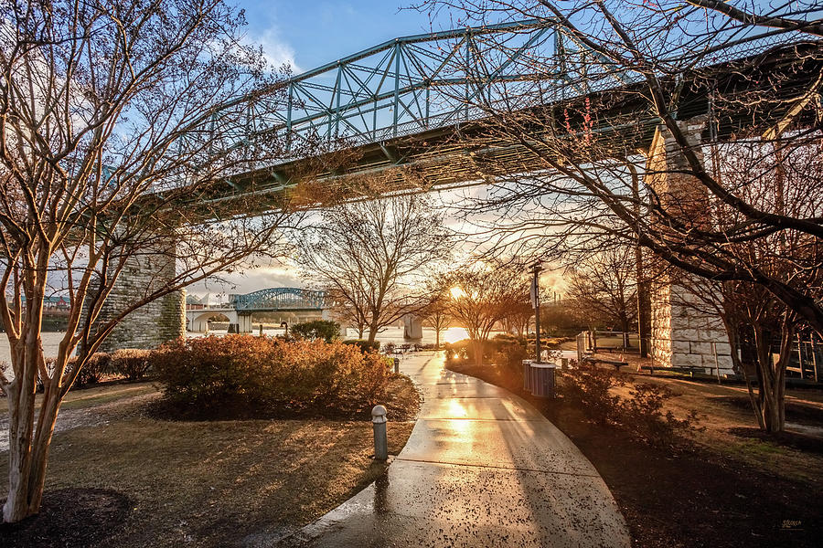 Coolidge Park Path At Sunset by Steven Llorca