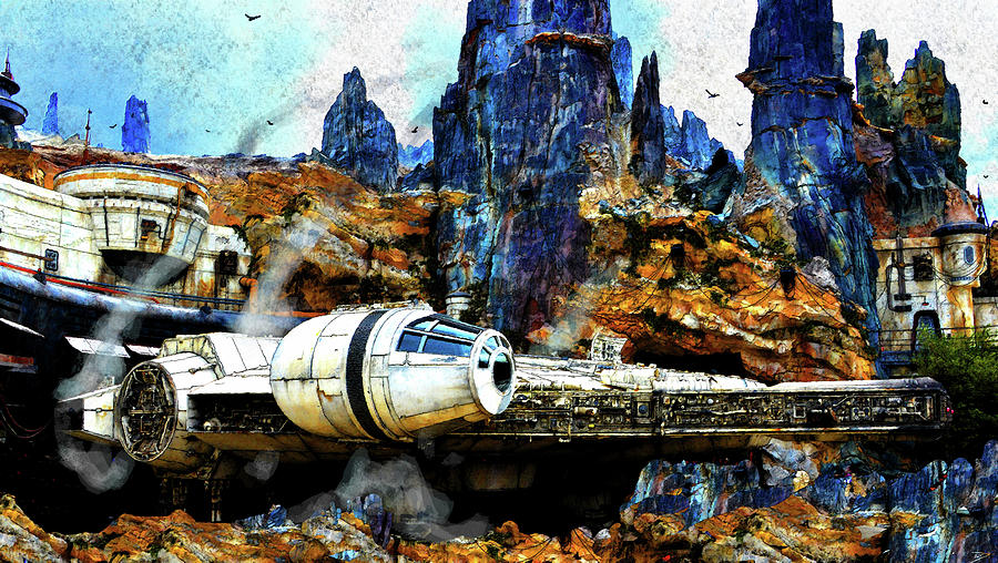 Star Wars Painting - Cooling Off At Black Spire by David Lee Thompson