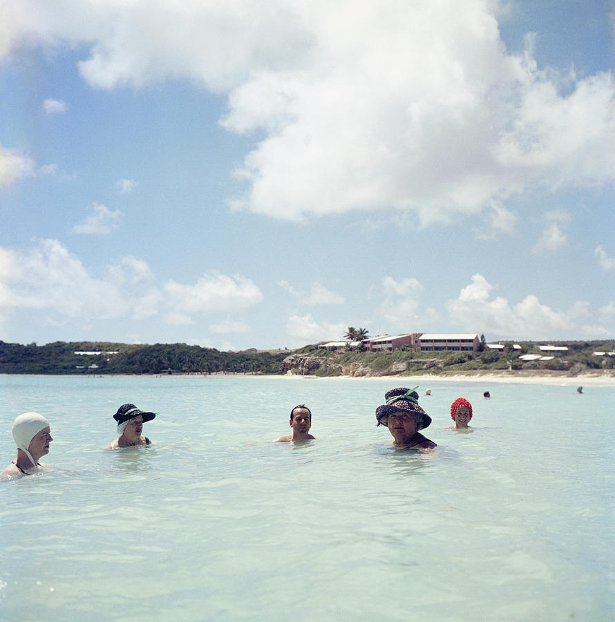 Cooling Off In Antigua Photograph by Slim Aarons