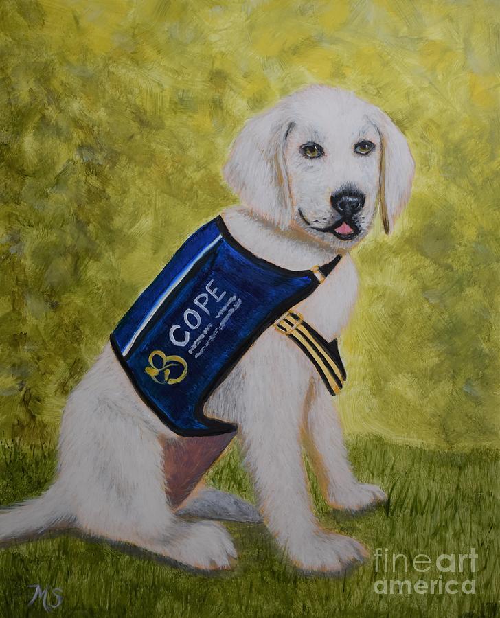 Cope Service Dog Labrador by Monika Shepherdson