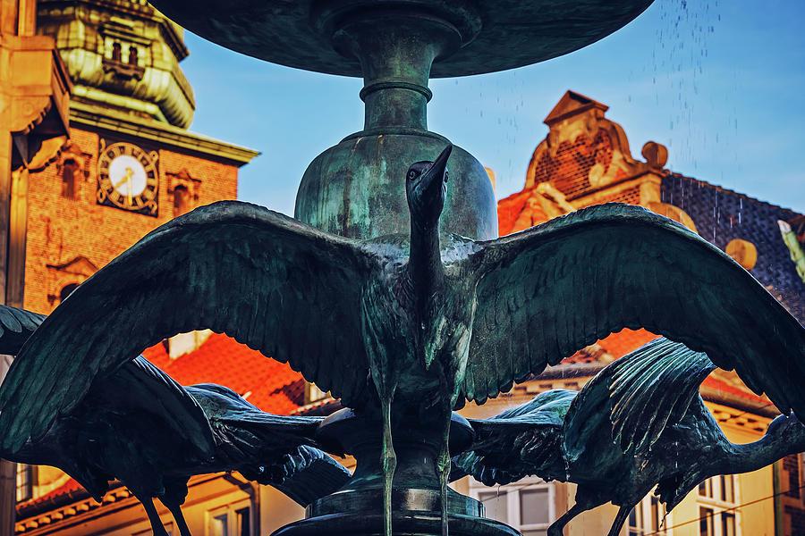 Copenhagen - Stork Fountain - Amagertorv by Alexander Voss