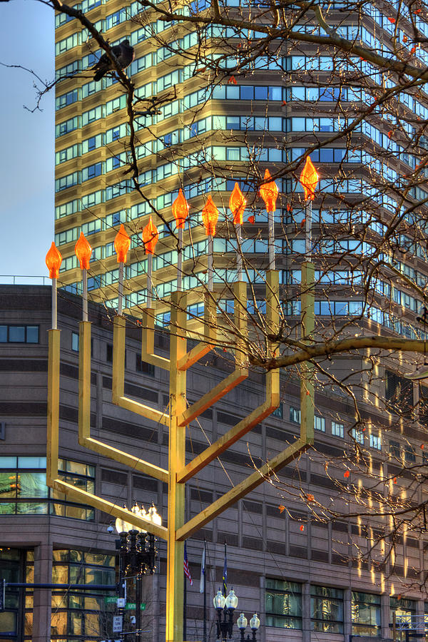 Copley Square Menorah - Boston by Joann Vitali