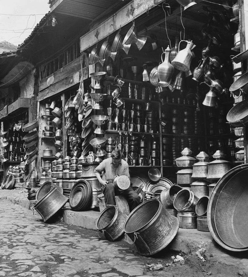 Copper Stall Photograph by George Pickow