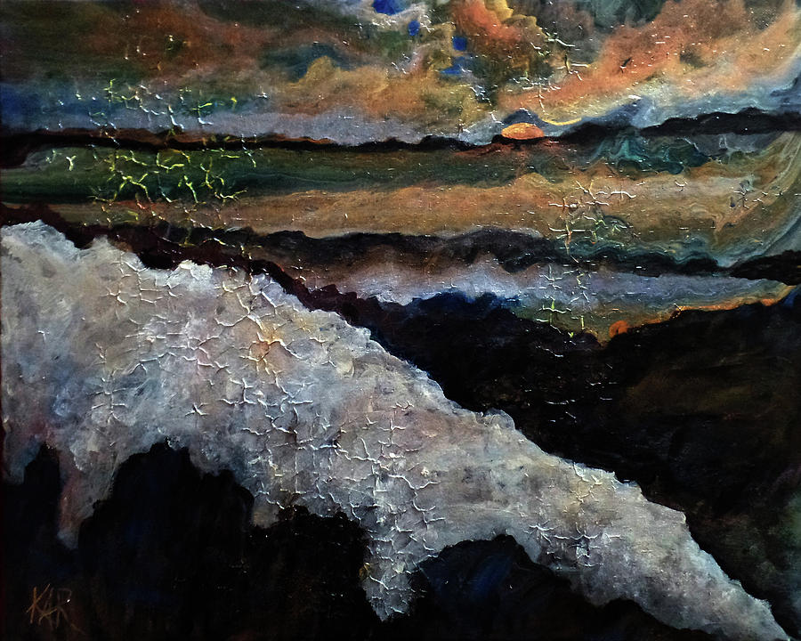 Surreal Painting - Coppery Landscape by Art by Kar
