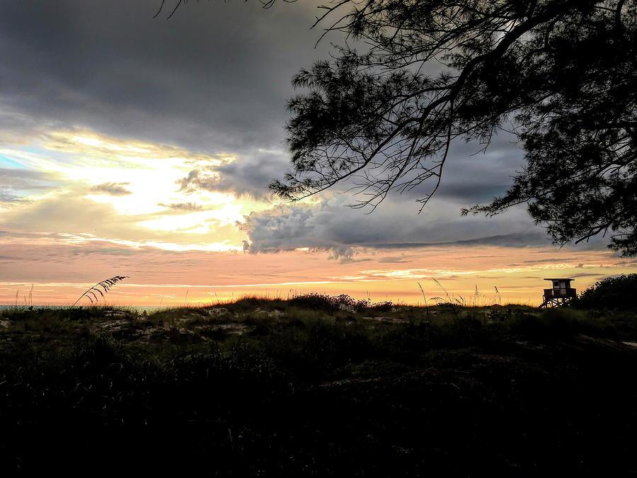 Coquina Beach at Sunset by Robert Stanhope