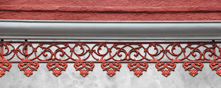 Coral Pink Wrought Iron Trim by Debi Dalio