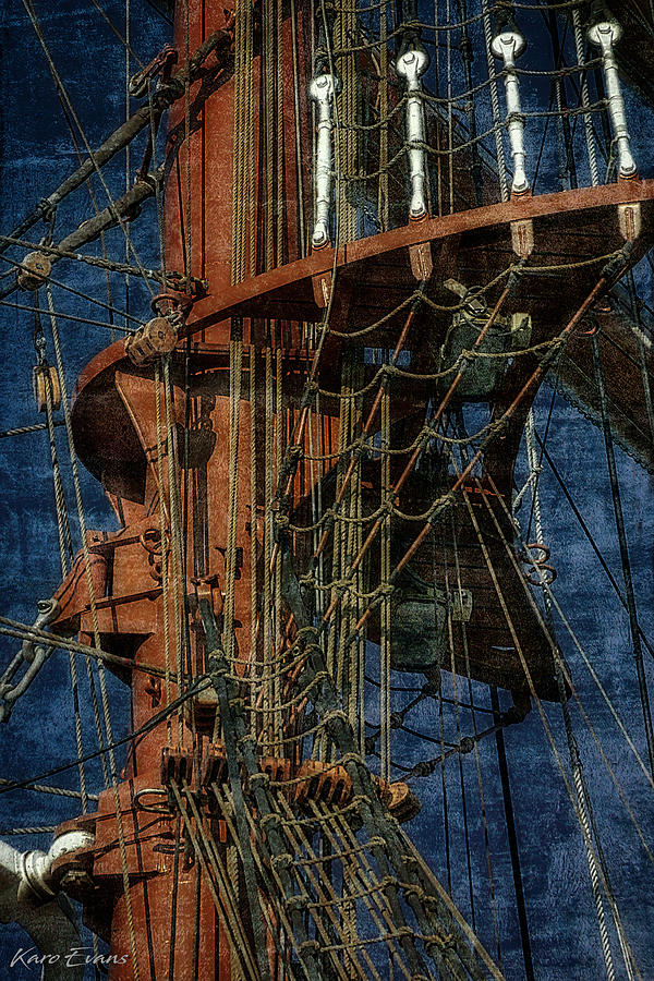 cords and masts by Karo Evans