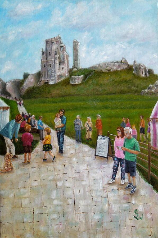 Corfe Castle by Shirley Wellstead