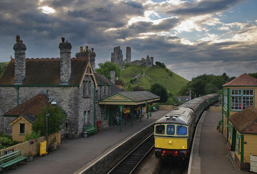 Corfe Castle Station Photograph by Laurence Cartwright Photography