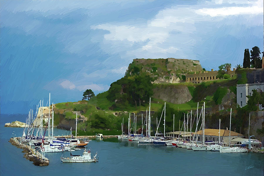 Corfu Harbor by Dean Wittle