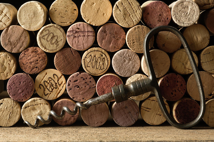 Corks And Corkscrew Photograph by Markswallow