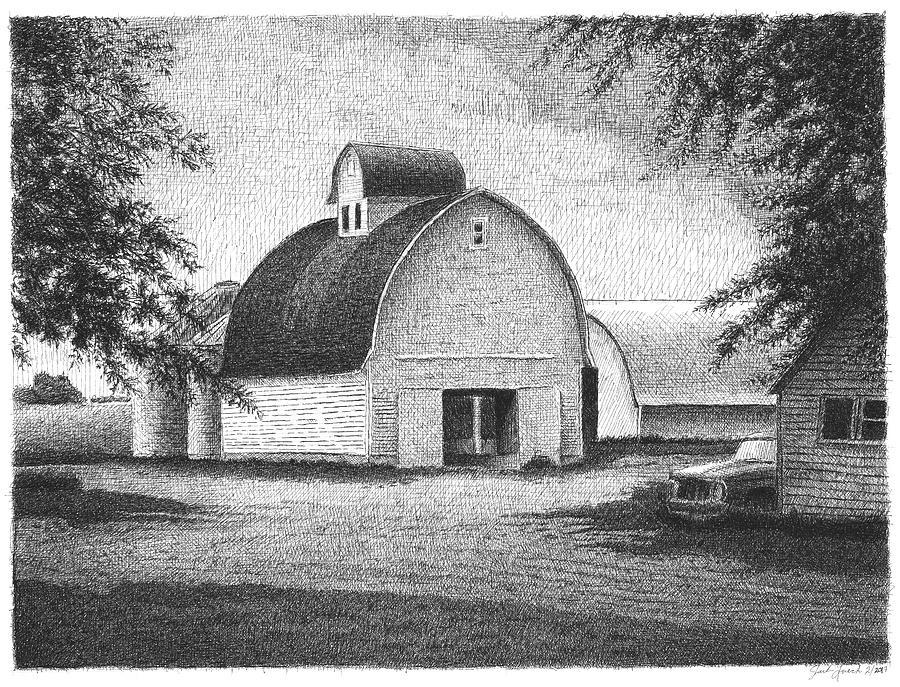Corn Crib South of Roland, Iowa by Joel Lueck