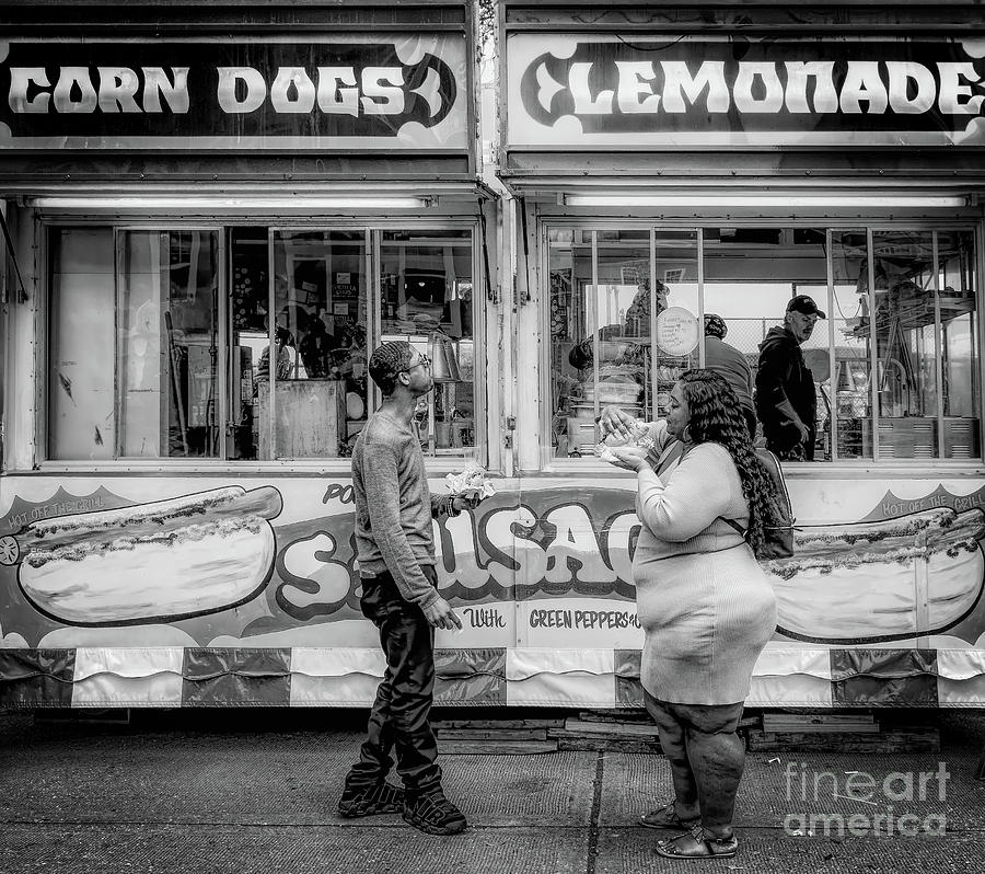Corn Dogs And Lemonade Photograph
