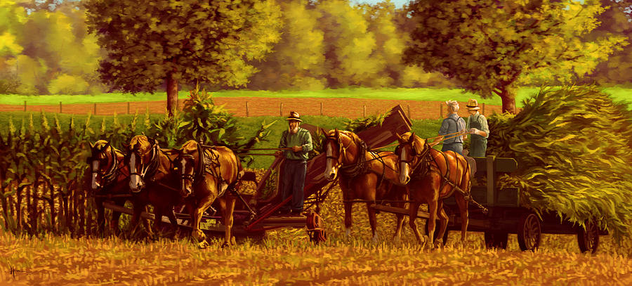 Corn Harvest by Hans Neuhart