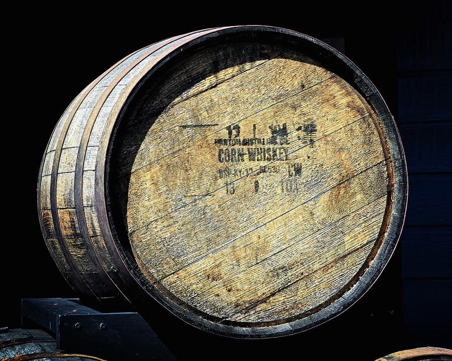 Corn Whiskey Barrel Head by Bill Swartwout Photography