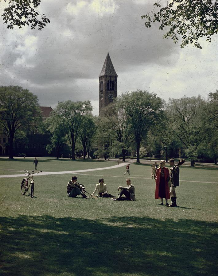 Cornell Campus Photograph by Slim Aarons