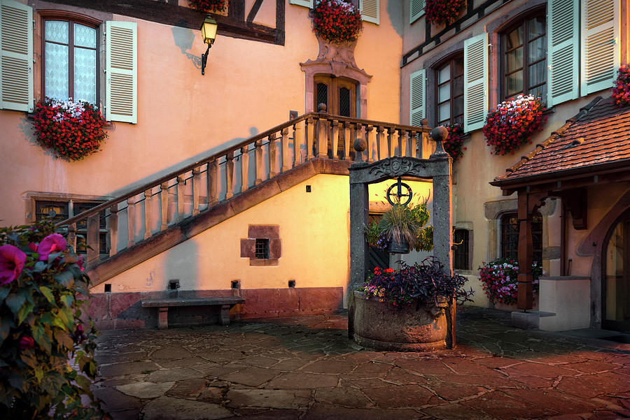 Corner with old well in Turckheim, Alsace by RicardMN Photography