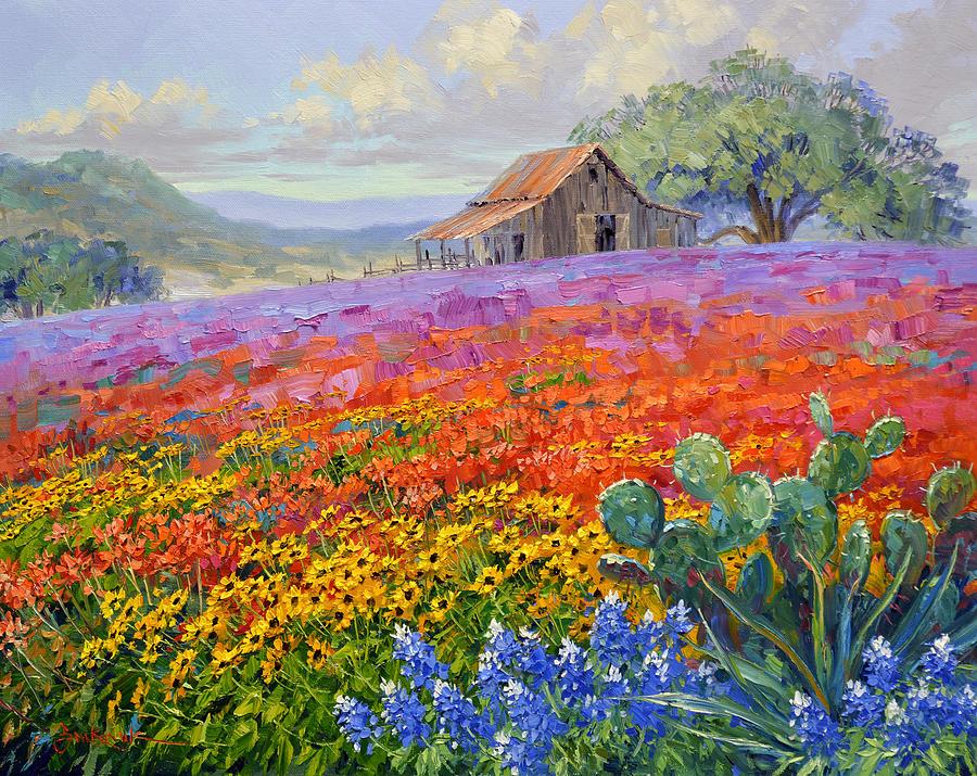 Landscape Painting - Cornucopia of Color by Mikki Senkarik