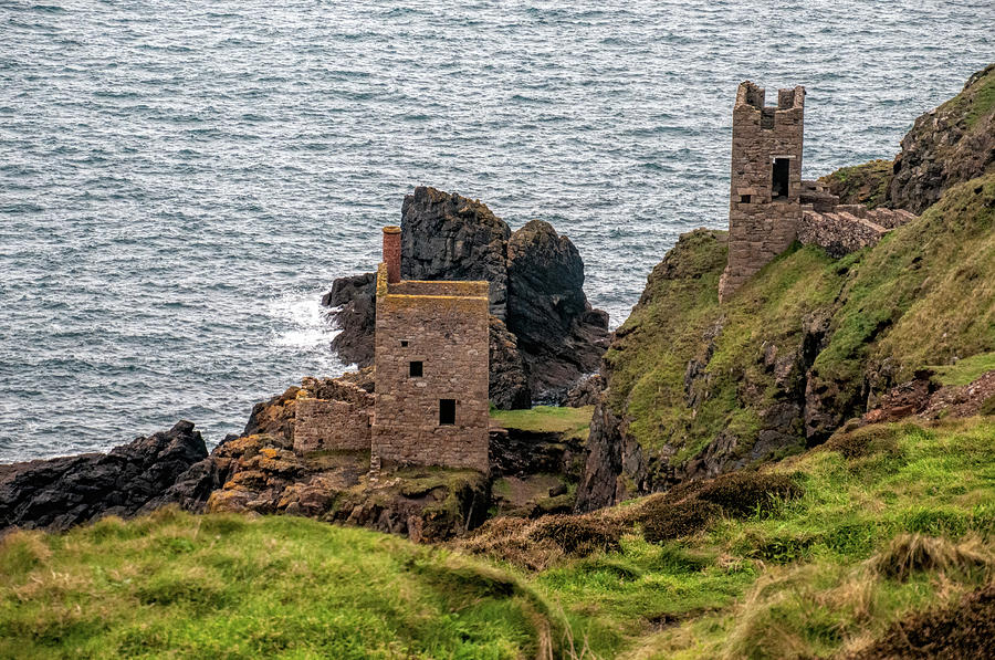 Cornwall Tin Mine Ruins by Phyllis Taylor