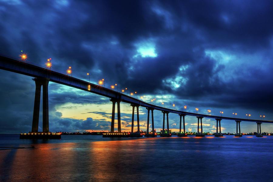 Coronado Bridge Sunset Photograph by Michelle Leale/total Photography Llc