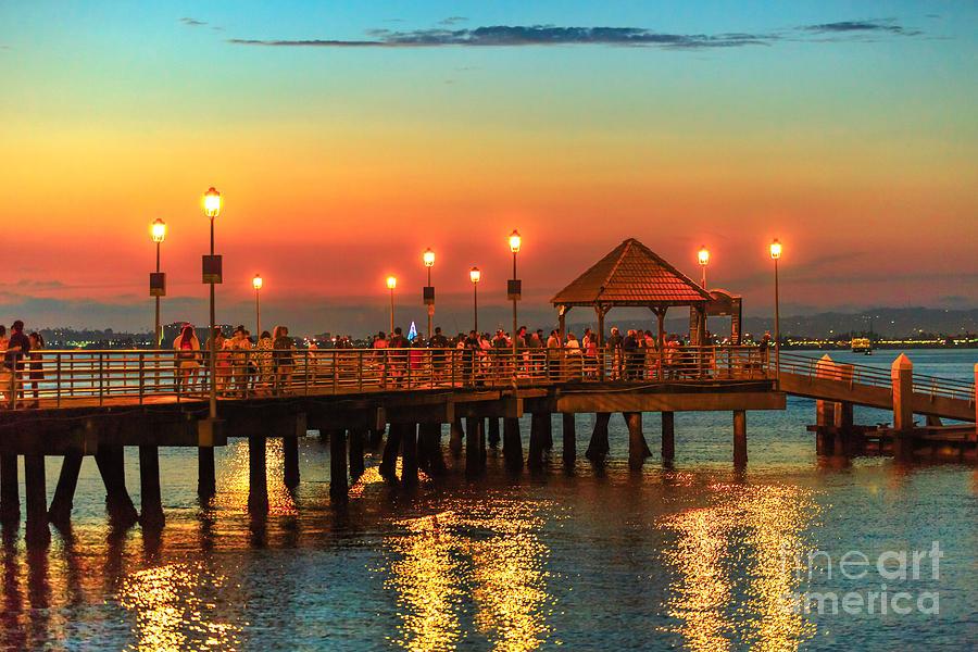 Coronado pier at twilight by Benny Marty